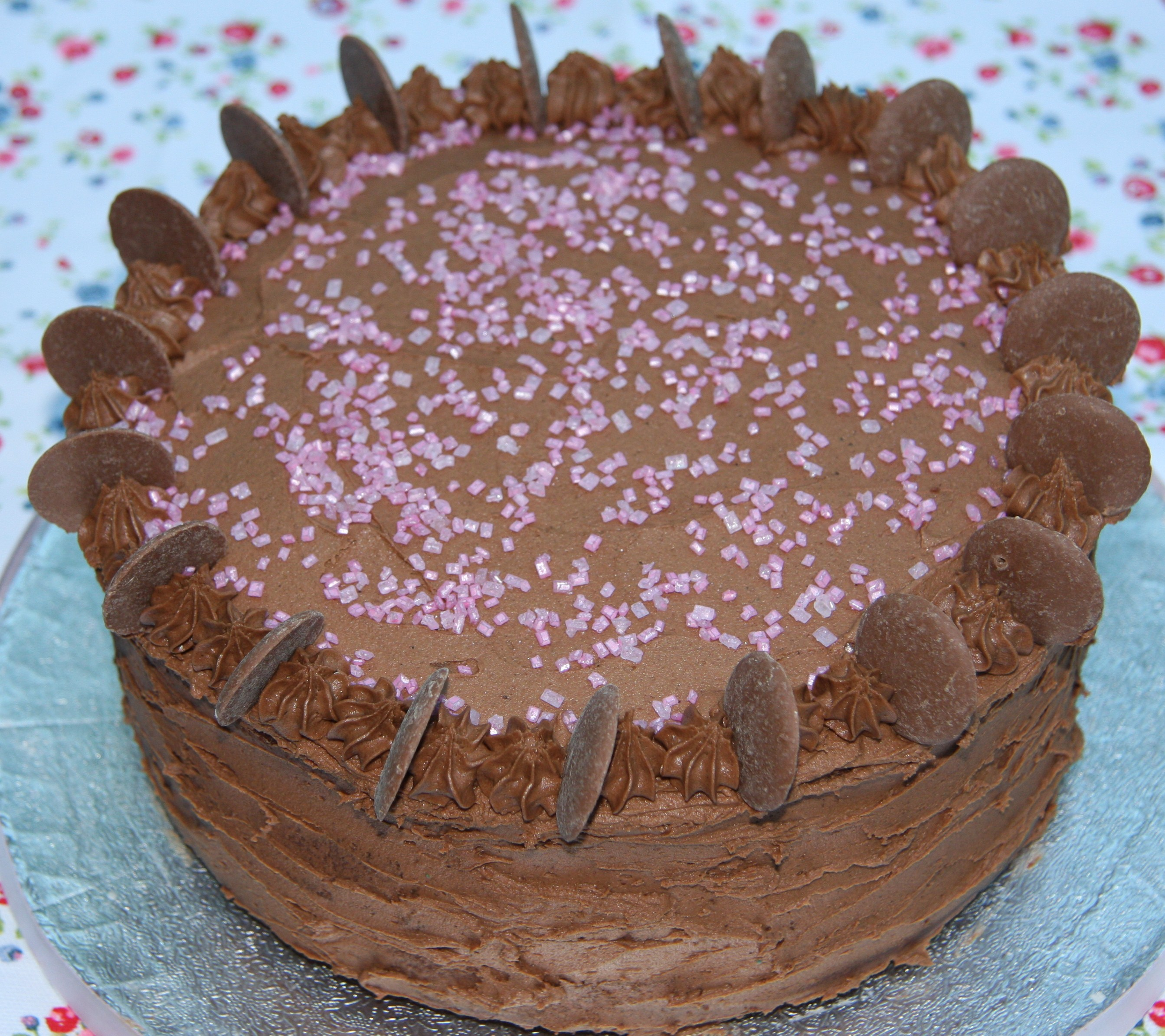 Pleasing Quick And Easy Chocolate Birthday Cake Lovinghomemade Personalised Birthday Cards Veneteletsinfo