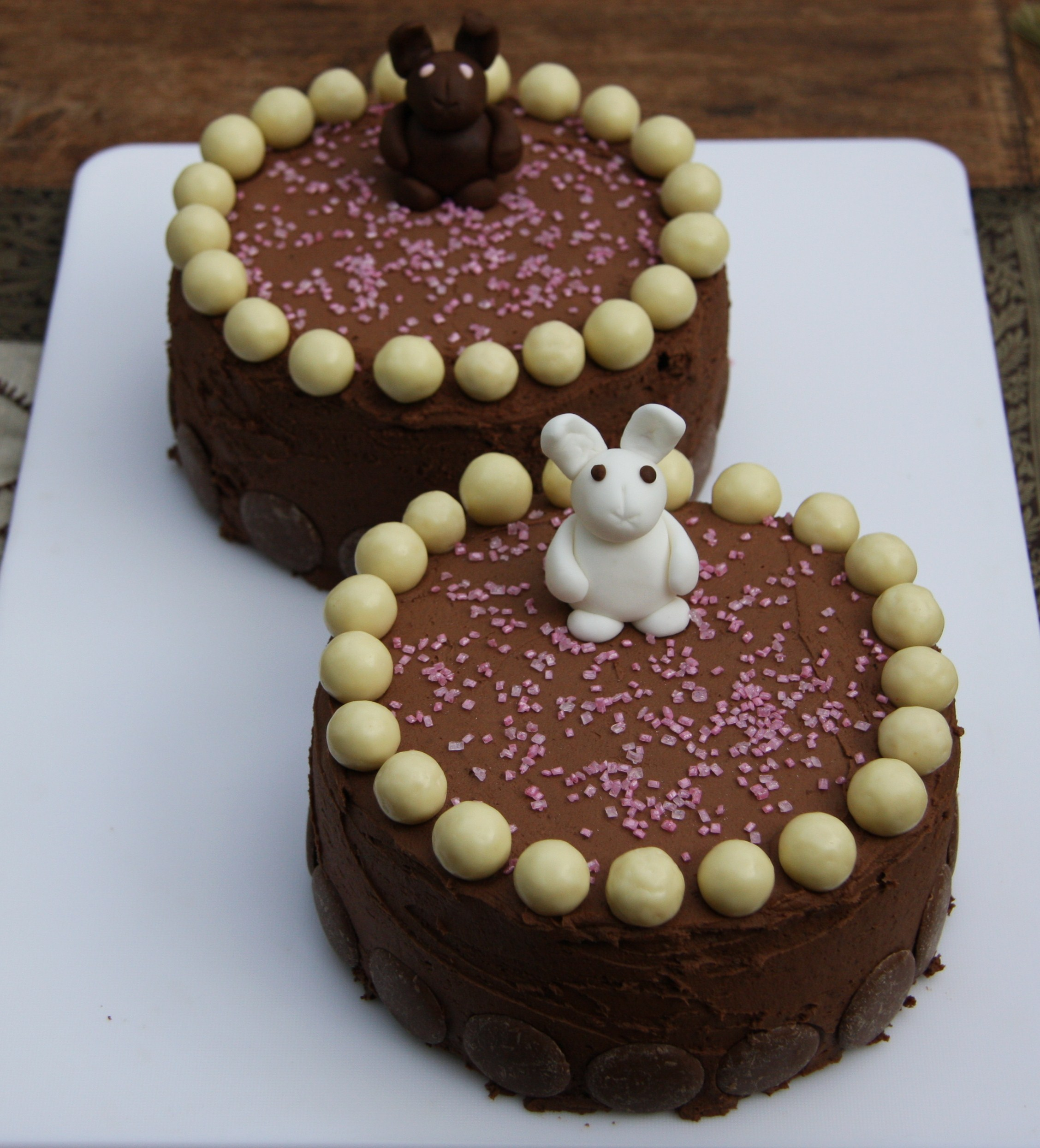 Chocolate Birthday Cakes Bunny Delight Lovinghomemade