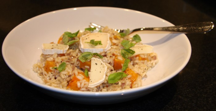 butternut squash goat cheese risotto