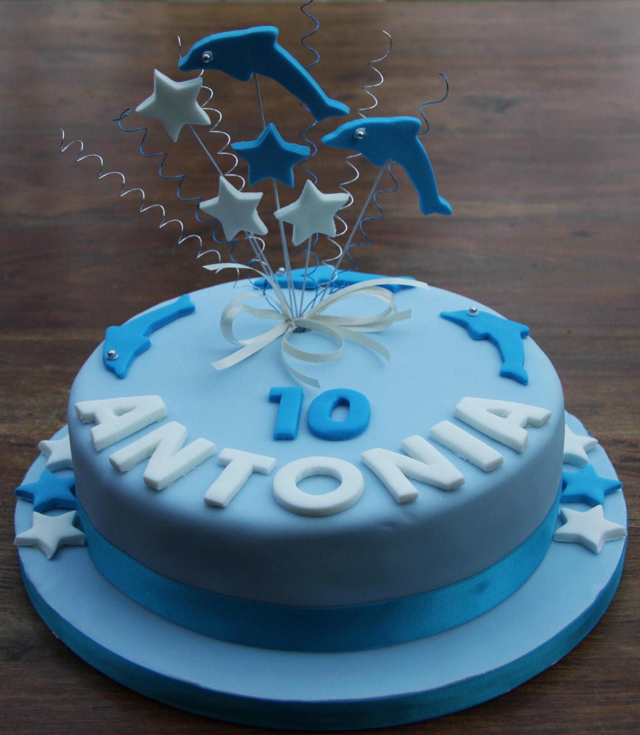 Outstanding Birthday Cake Dolphins Lovinghomemade Funny Birthday Cards Online Alyptdamsfinfo