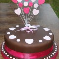 Heart birthday chocolate cake