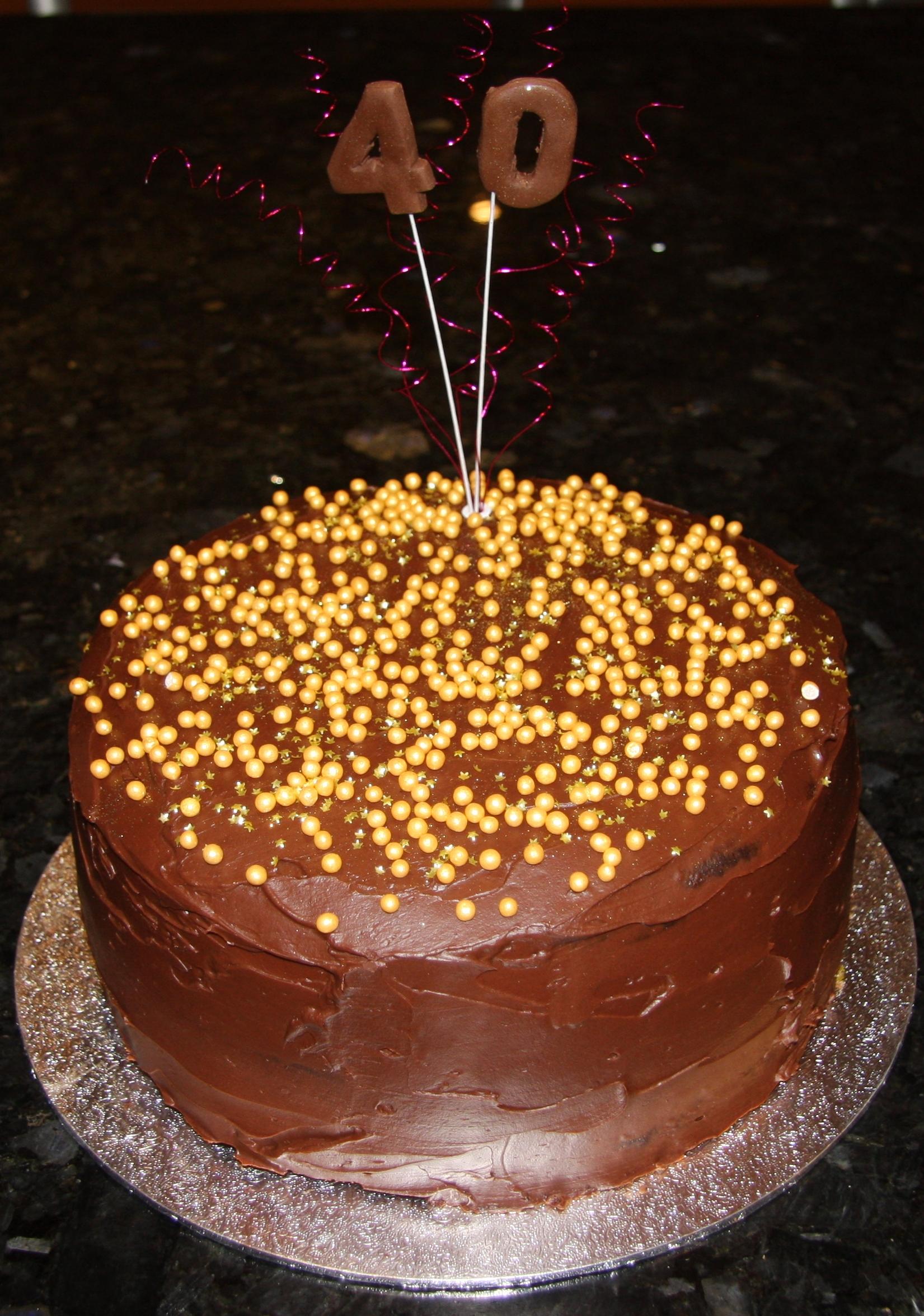 Soured Cream Birthday Cake