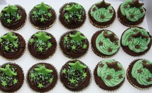 chocolate cupcakes star