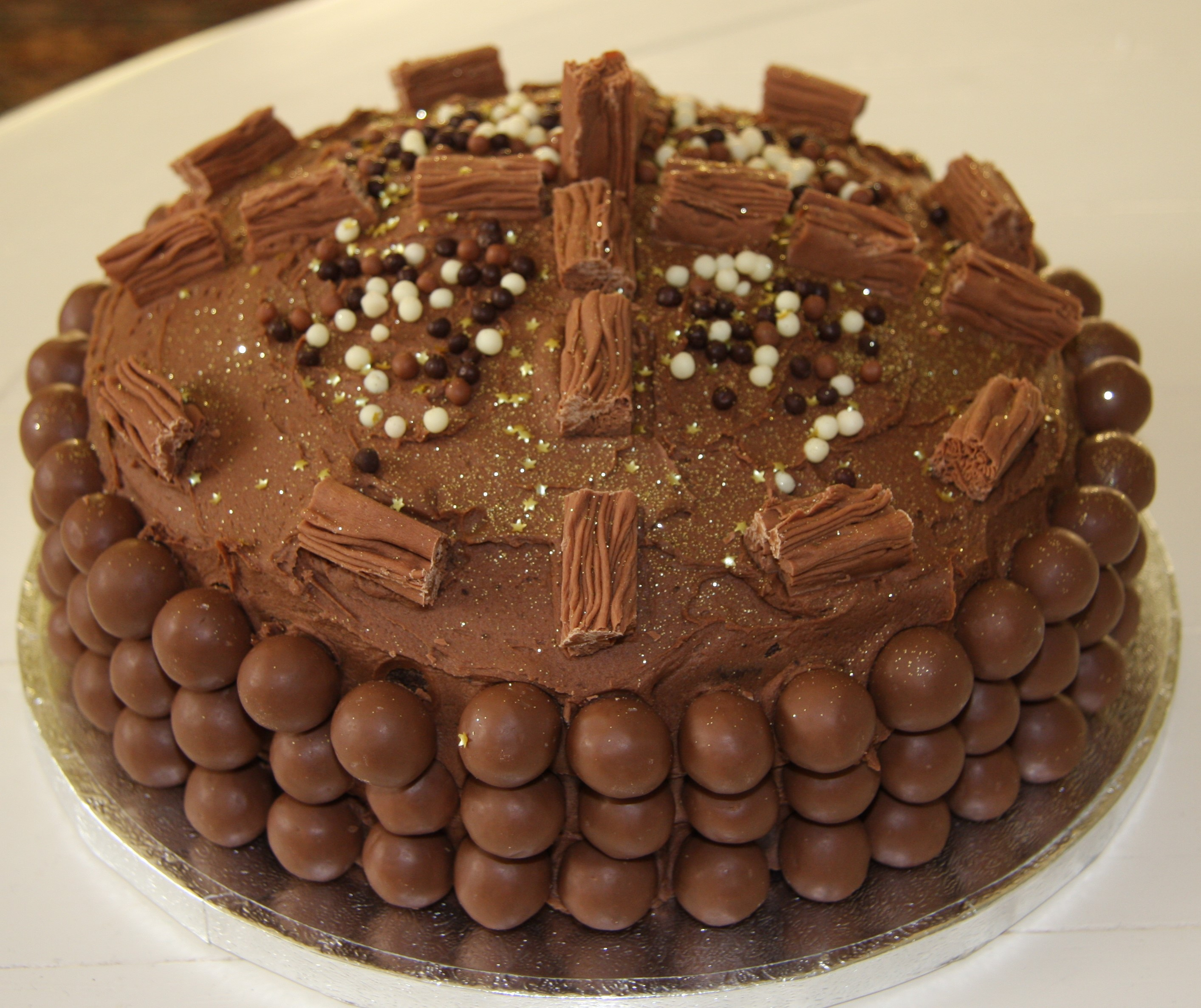 Chocolate Birthday Cake   with extra chocolate ...