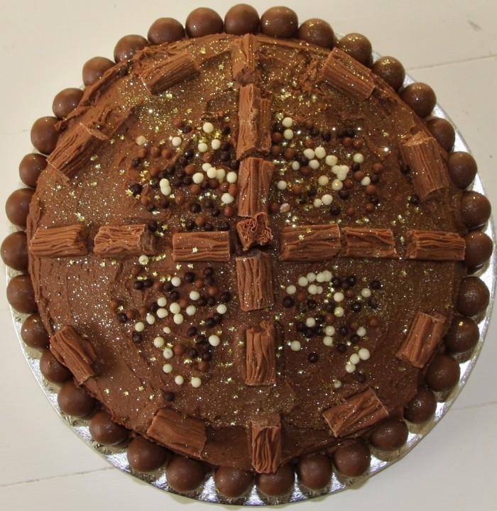 chocolate malteser birthday cake