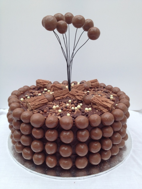 chocolate malteser birthday cake