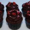 mini chocolate cupcakes strawberry