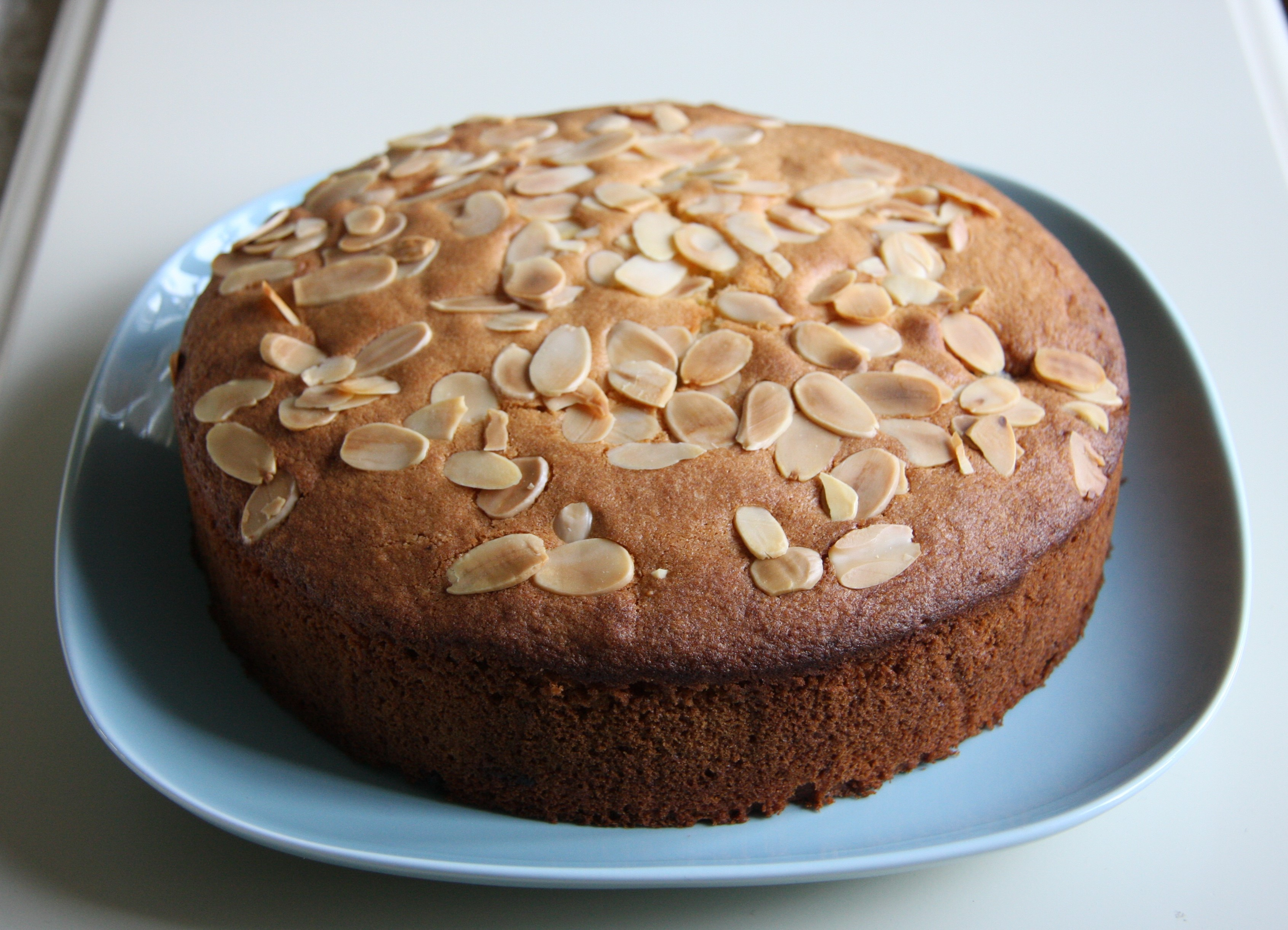 Eggless Almond Cake