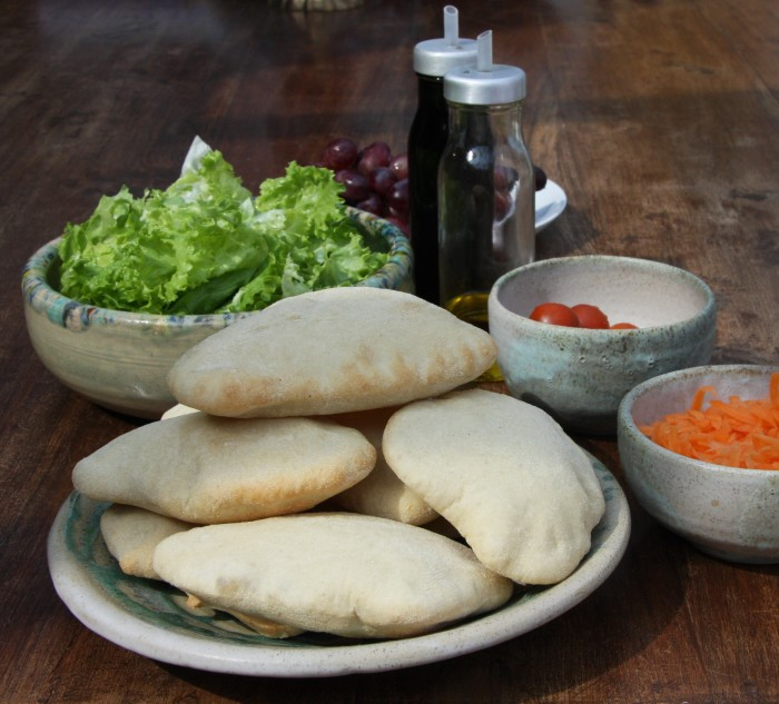 homemade pitta bread