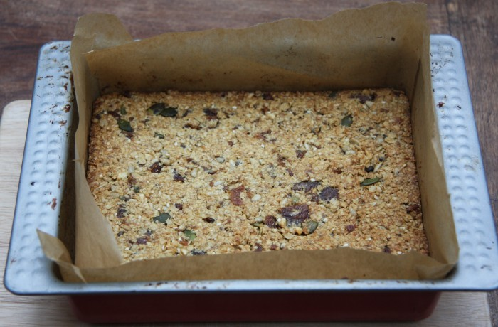 Oat, Apricot and Seed Squares | lovinghomemade