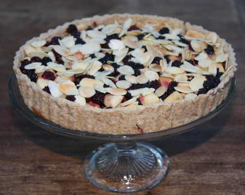 blackberry apple tart