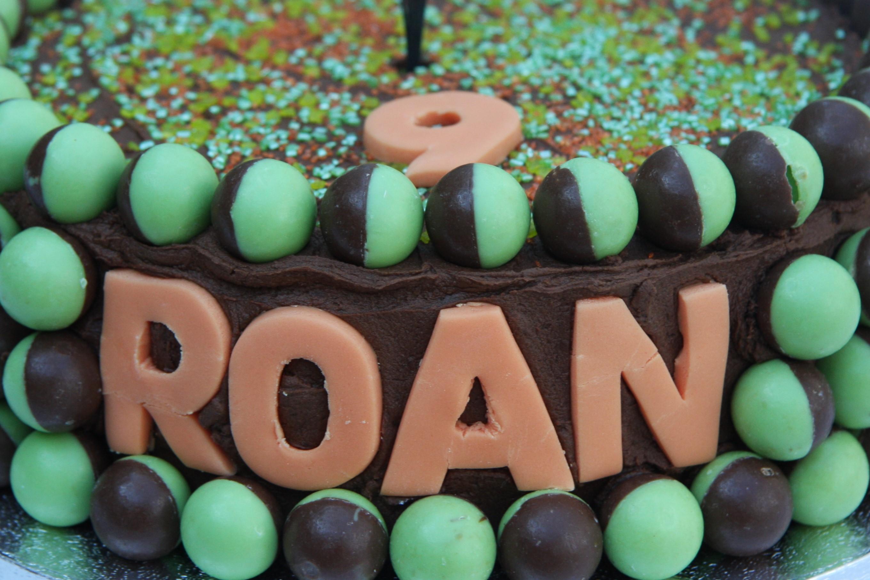 Mint Aero Birthday Cake