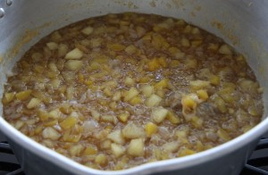 making mango chutney