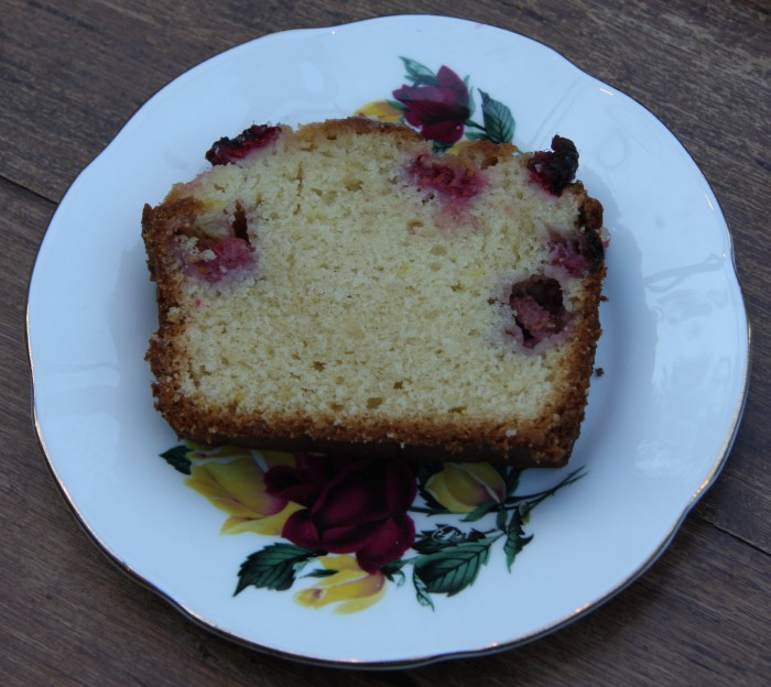 raspberry lemon yogurt loaf