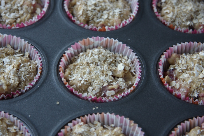 plum oat muffins