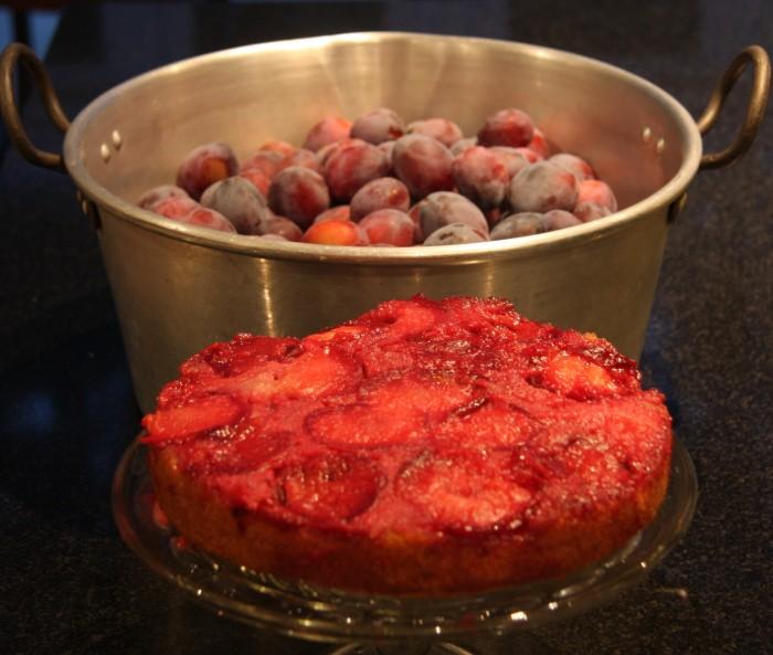 upside plum cake