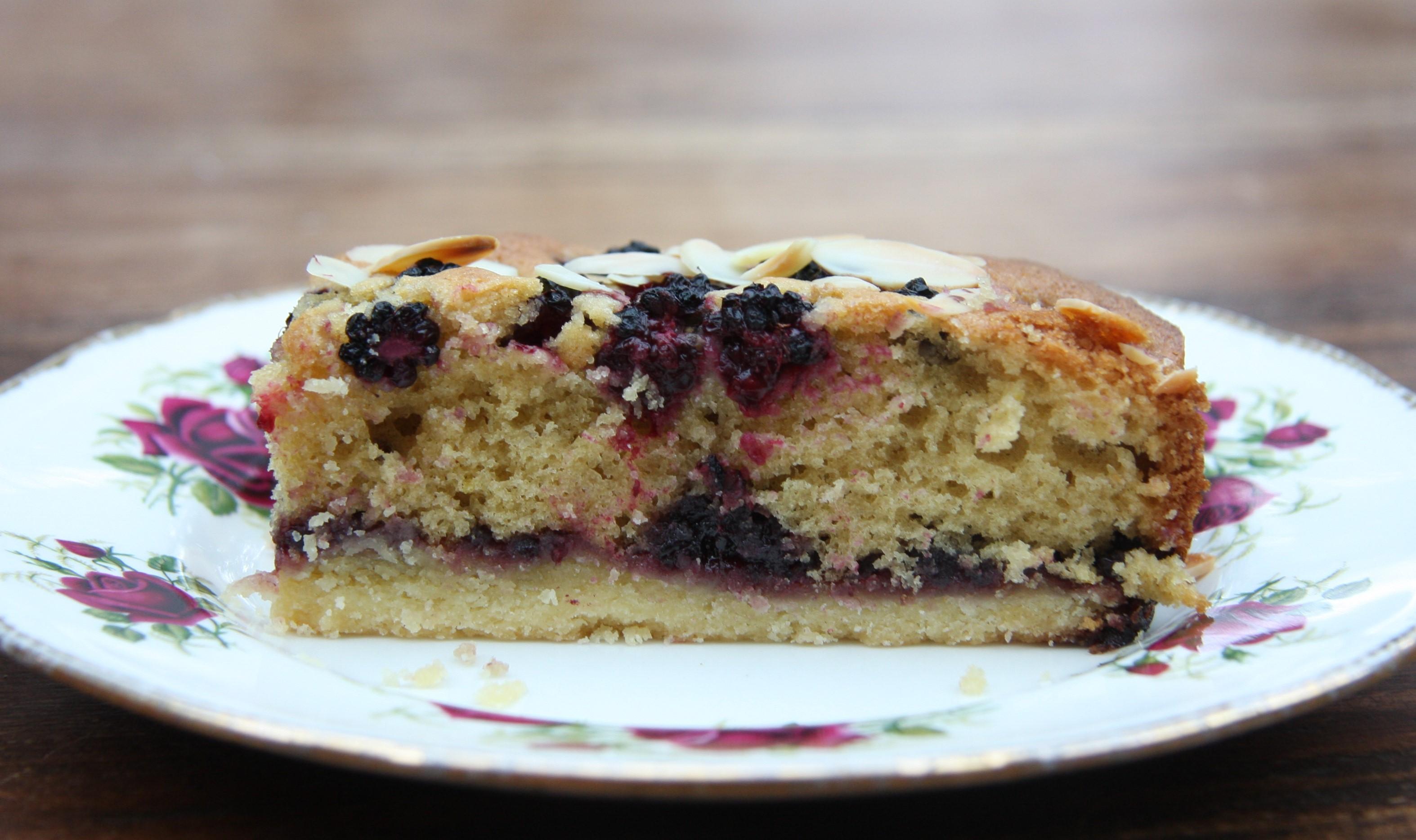 Blackberry Cake Bars | lovinghomemade