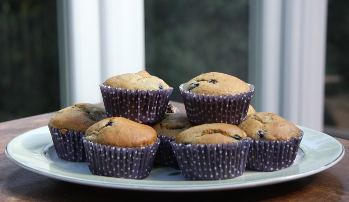 pear blackberry muffins