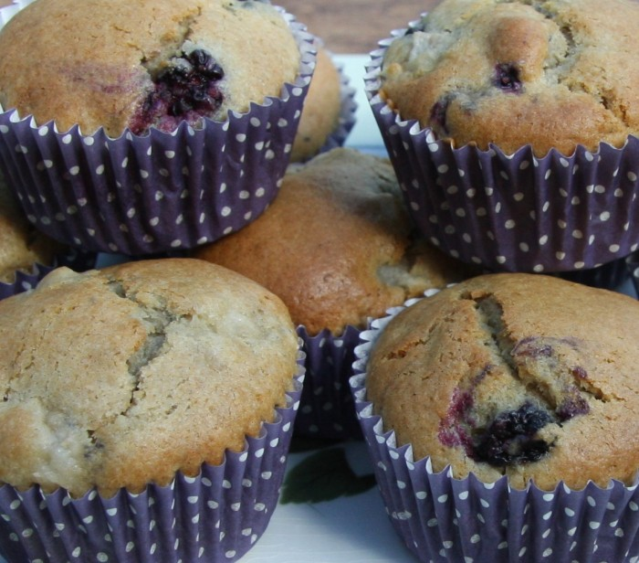 pear blackberry muffins