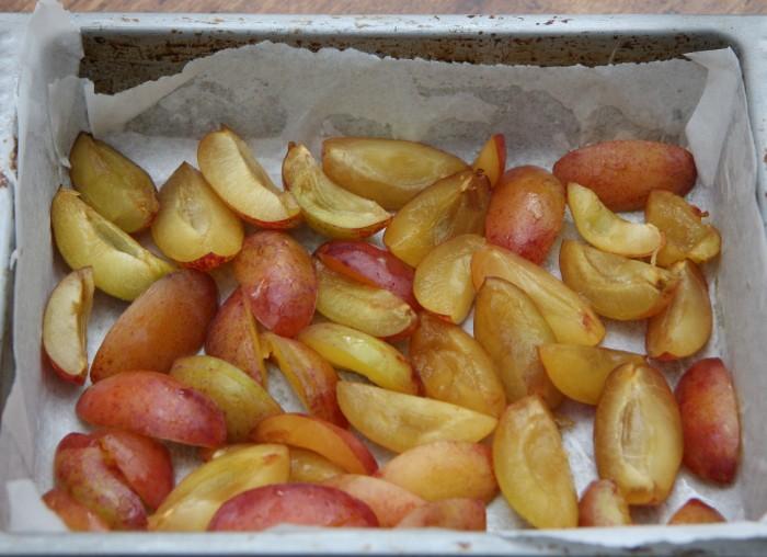 plum almond squares