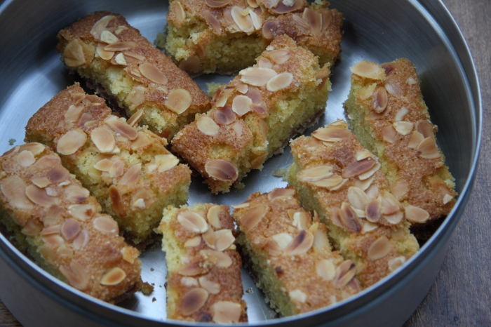 homemade bakewell slices
