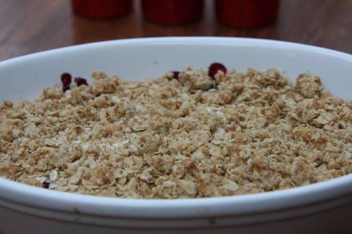 elderberry crumble