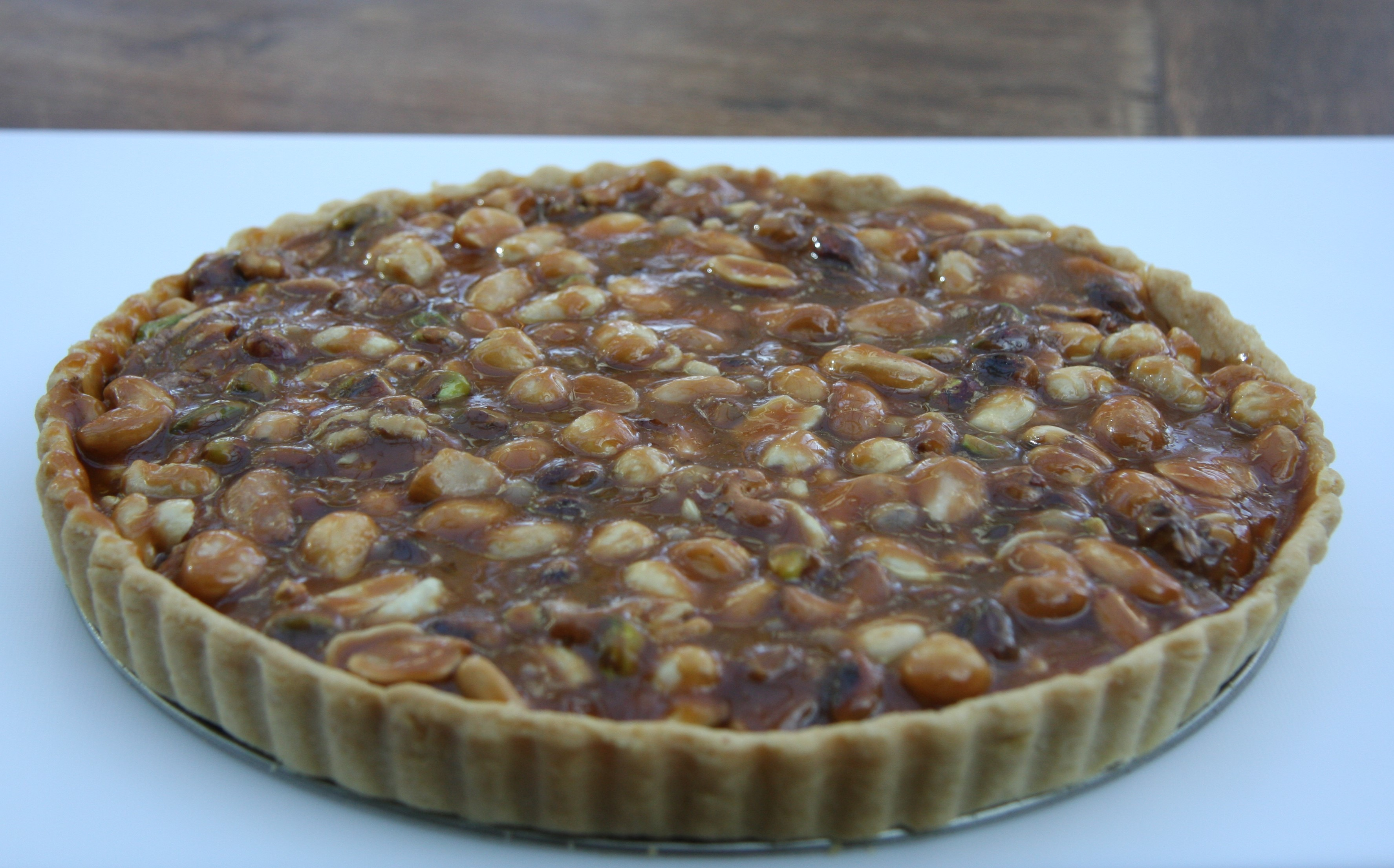 Caramel Nut Tart | lovinghomemade