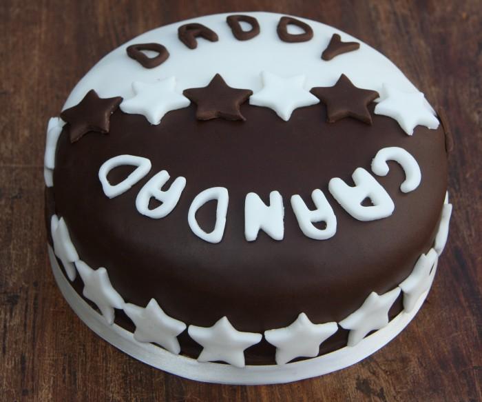 half chocolate half vanilla cake