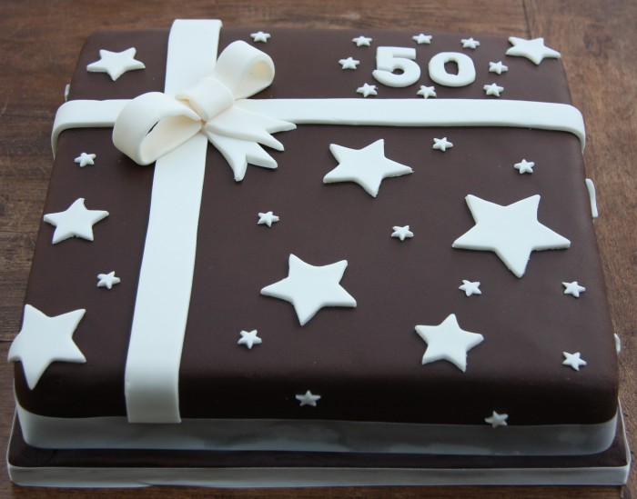 50th birthday present cake