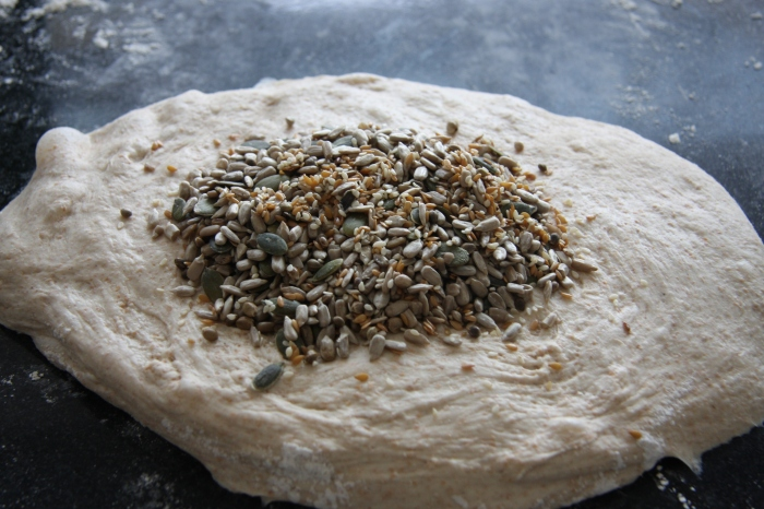 making seeded bread