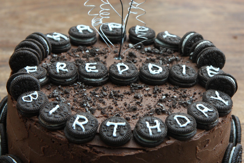 Oreo Birthday Cake Images