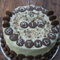 chocolate button birthday cake
