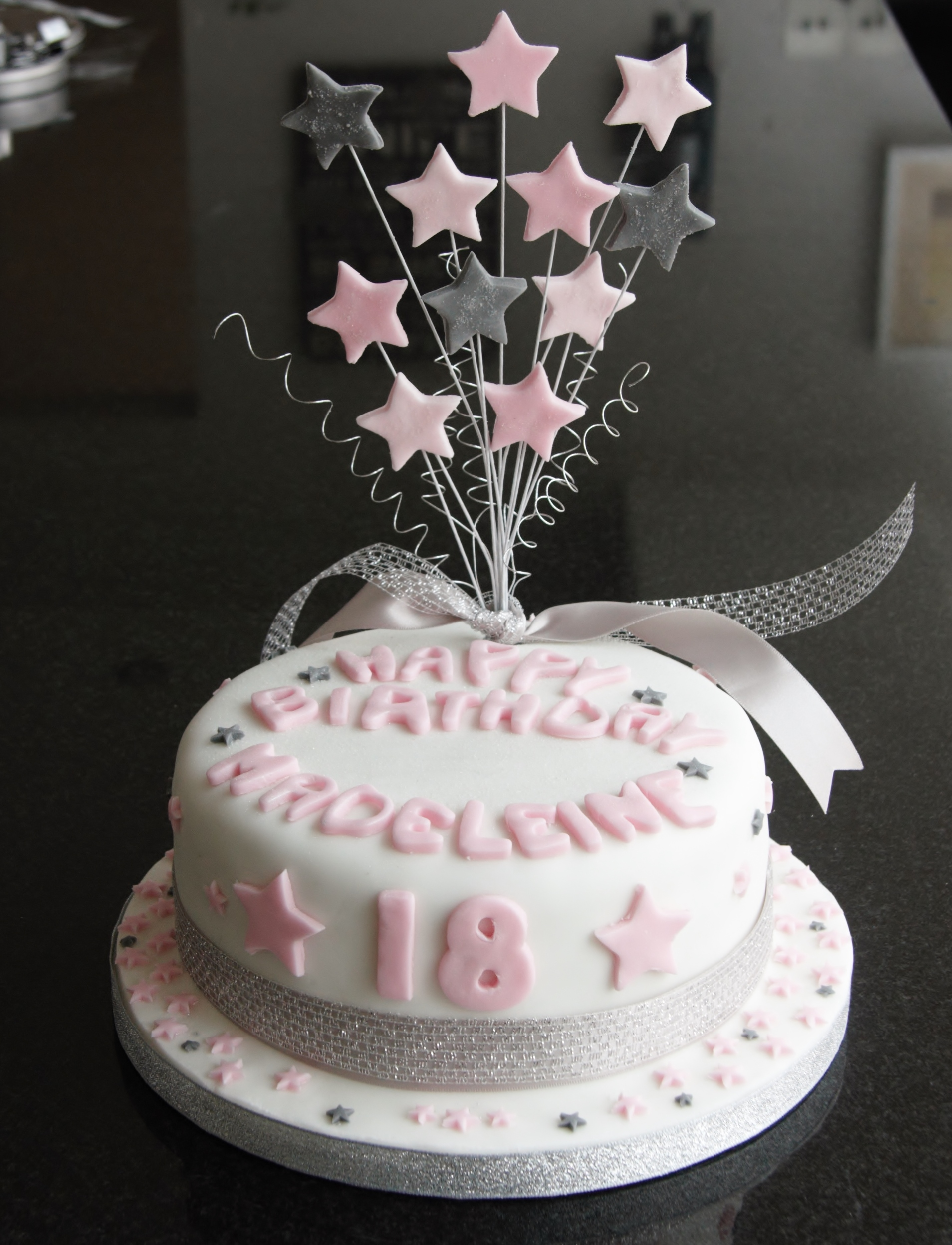Amazing 18Th Birthday Star Cake And Cupcakes Lovinghomemade Funny Birthday Cards Online Elaedamsfinfo