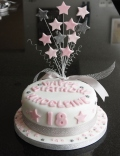 star 18th birthday cake