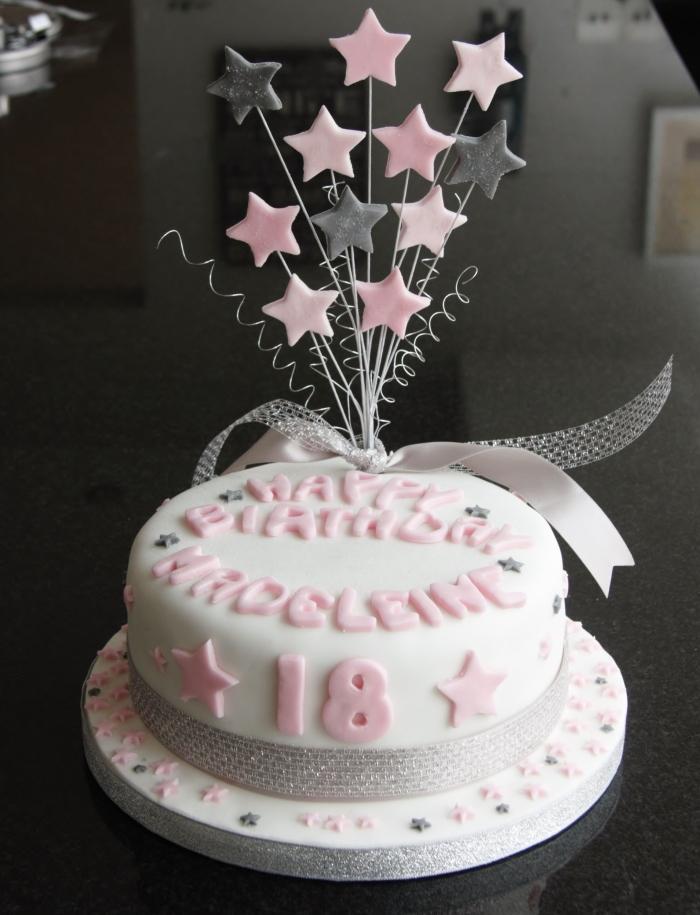 star 18th birthday cake