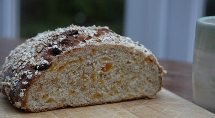 apricot and oat bread