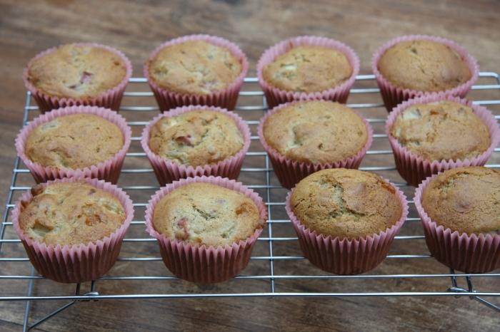 rhubarb ginger muffins