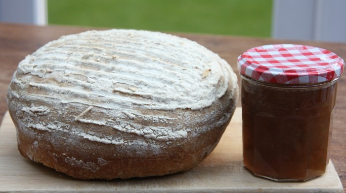 homemade bread and jam