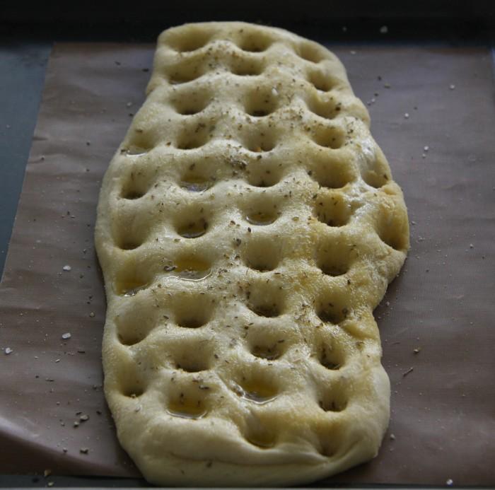 making focaccia