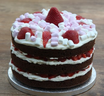 chocolate strawberry birthday cake
