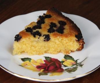 blackberry polenta cake
