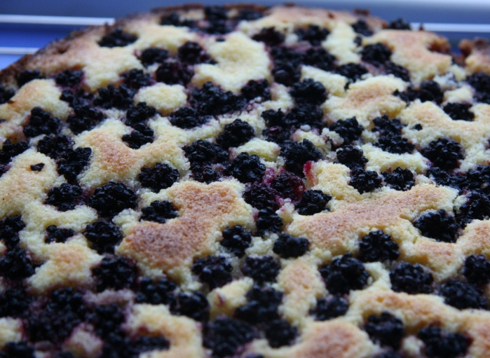 blackberry lime polenta cake