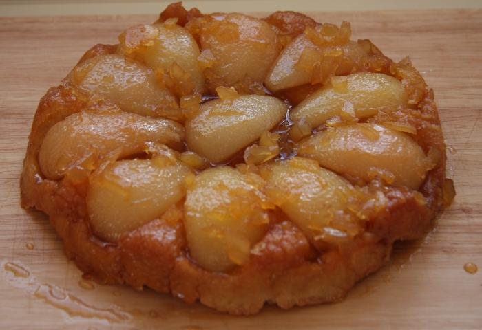 pear ginger tarte tatin