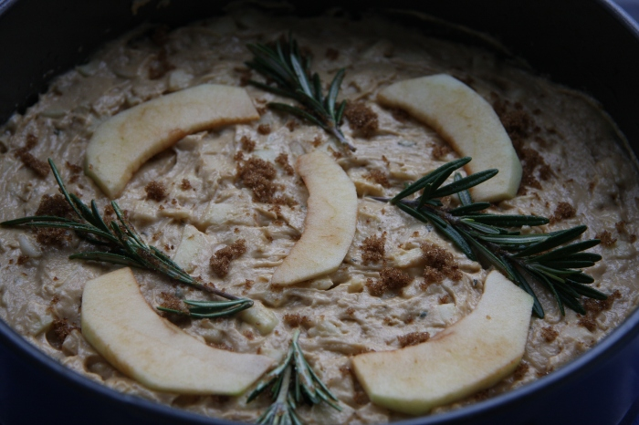 rosemary apple cake