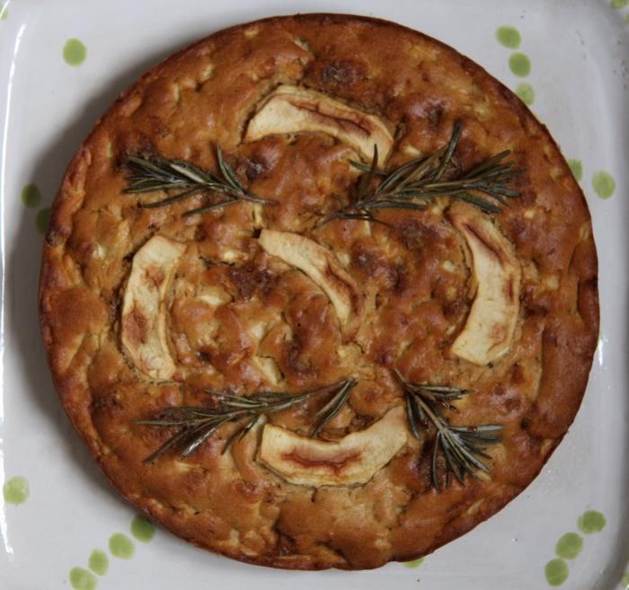 rosemary apple cake
