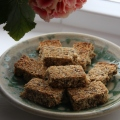 chia oat coconut bars