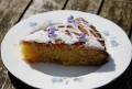 lemon rosemary polenta cake