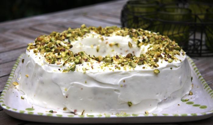courgette lime pistachio cake