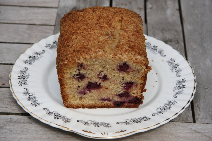 blackberry coconut loaf