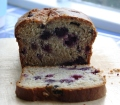 pear and blackberry loaf